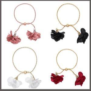 Lot of 4 INC bracelets and INC long stone necklace